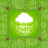 Indian harvesting festival, Happy Pongal. Royalty Free Stock Photo