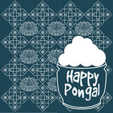 Indian harvesting festival, Happy Pongal. Stock Photos