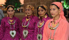 Indian haryavni girls Royalty Free Stock Images