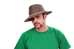 Indian in Hat Stock Image