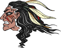 Indian Head. With war paint vector illustration