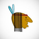 Indian head with brown skin. Vector design Royalty Free Stock Photos