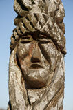 Indian head carving Royalty Free Stock Photos