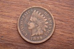 Indian Head Cent Stock Photo