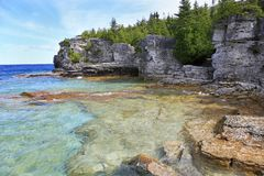 Indian Head Cove in Georgian Bay, Lake Huron stock photo