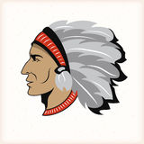 Indian head mascot Stock Images