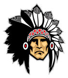 Indian head mascot. Vector of indian head mascot Royalty Free Stock Image