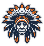Indian head mascot. Vector of Indian head mascot Royalty Free Stock Photos