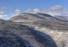 Indian Head Mountain. View across the Plattekill Cove to Indian Head Mountain in the Catskill Forest Preserve Stock Photo