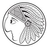Indian Head. Profile. Vector Image. Stock Photos
