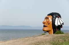 Indian Head - Riviere-Du-Loup - Canada Royalty Free Stock Image
