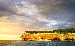 Indian Head rock formation Stock Image