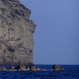 Indian head rock Santorini Royalty Free Stock Image