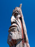 Indian Head Totem Pole Stock Photo