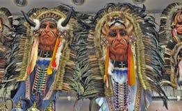 Indian headdress mask Stock Image