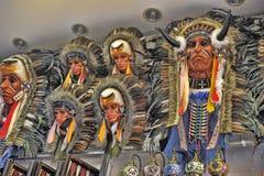 Indian headdress mask Stock Images