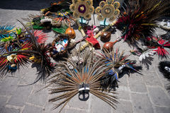 Indian headdresses in Mexico Royalty Free Stock Photography