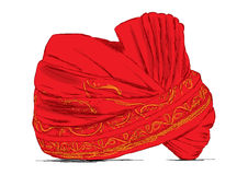 Indian Headgear Turban used in Marriages - Vector Illustration Stock Images