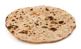 Chapati. Indian healthy food chapati isolated on white Royalty Free Stock Images