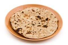 Chapati. Indian healthy food chapati  on white Royalty Free Stock Images
