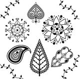 Indian Henna Elements Royalty Free Stock Image