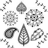 Indian Henna Elements Royalty Free Stock Image