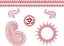 Indian henna elements Stock Photos