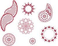Indian henna elements Stock Image