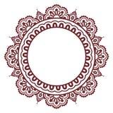 Indian Henna floral tattoo round pattern - Mehndi Stock Photography