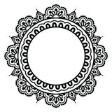Indian Henna floral tattoo round pattern - Mehndi Stock Images