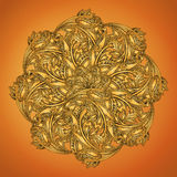 Indian henna round lace Royalty Free Stock Photo