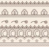 Indian henna seamless Royalty Free Stock Photos