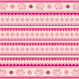 Indian henna style pink and cream background Royalty Free Stock Image