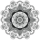 Indian henna tattoo flower Royalty Free Stock Images