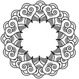 Indian henna tattoo inspired heart shapes wreath with leaves element type 2 Stock Images