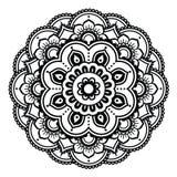 Indian Henna tattoo pattern or background - Mehndi design Stock Photo