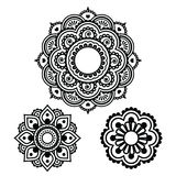 Indian Henna tattoo round design - Mehndi pattern Stock Photography