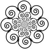Indian Henna Tattoo Swirly  flower Inspired Royalty Free Stock Image