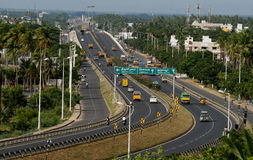 INDIAN HIGHWAYS. An active highway with cars and trucks .Photo taken on :November 14th, 2013 Royalty Free Stock Images