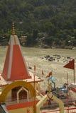 Laxman Julla, Rishikesh, India. The river Ganges Stock Photos