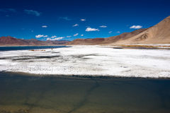 Indian Himalaya landscape with salt lake Tso Kar Royalty Free Stock Image