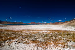 Indian Himalaya landscape with salt lake Tso Kar Stock Photo