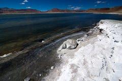 Indian Himalaya landscape with salt lake Tso Kar Royalty Free Stock Photo