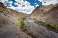 Indian Himalayan landscape in Marhka Valley,India Royalty Free Stock Photos