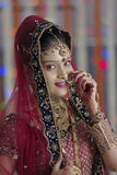 Indian Hindu Bride with jewelry Stock Photography