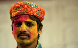 Indian hindu celebrate Holi or indian hindu festival of colors an annual event Stock Image