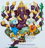Indian or Hindu ganesha God Named Maha Ganapati Stock Images