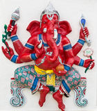 Indian or Hindu God Named Kasipa Porasada Ganapati Royalty Free Stock Photo