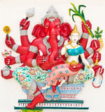 Indian or Hindu God Named Uddanda Ganapati Stock Images