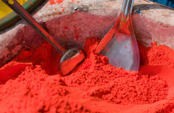 Indian hindu paints. Traditional Indian Hindu paints, for Color Festival Stock Image